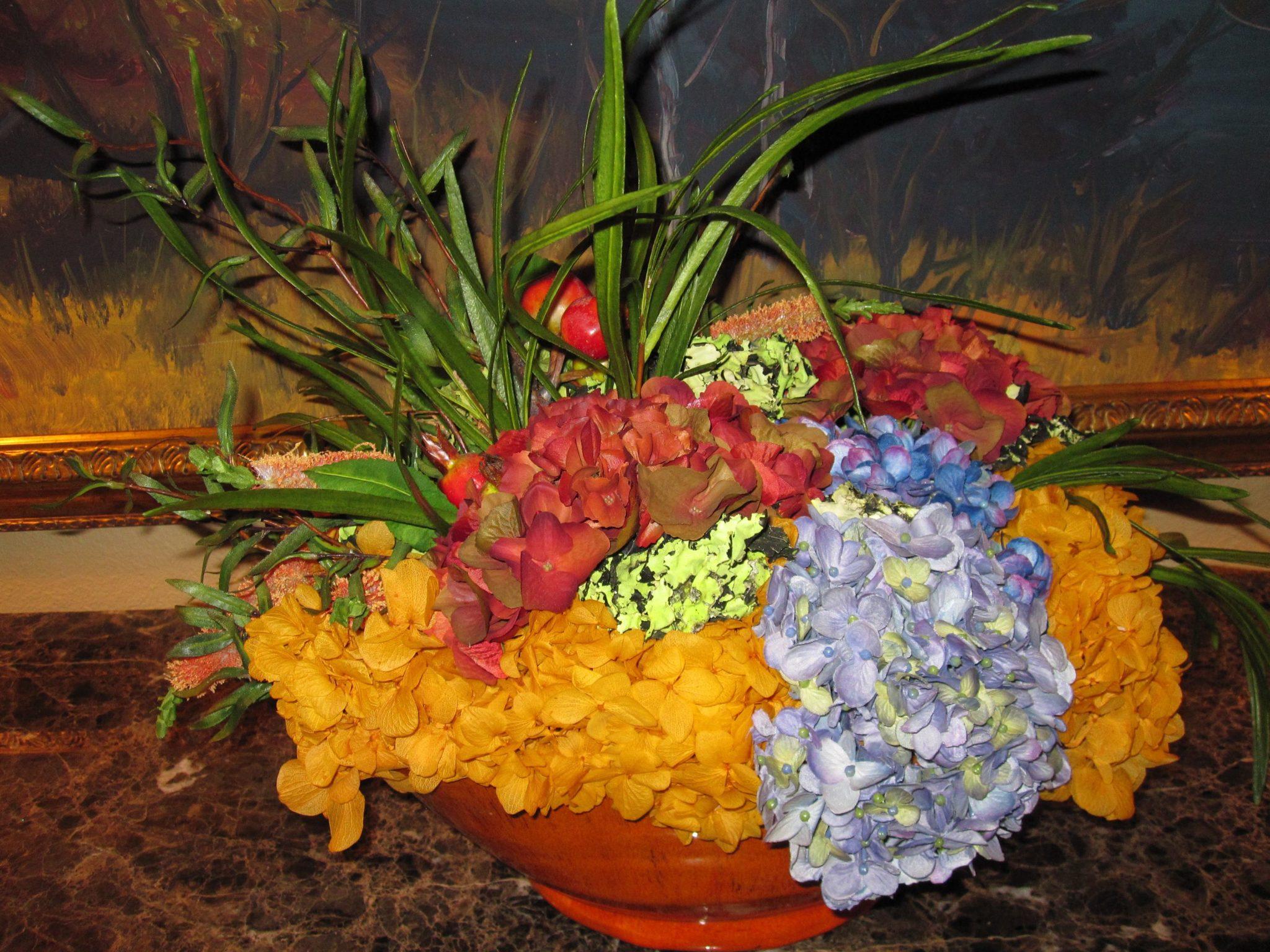 Silk-artificial floral design (10)