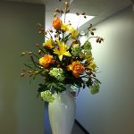 Silk-artificial floral design