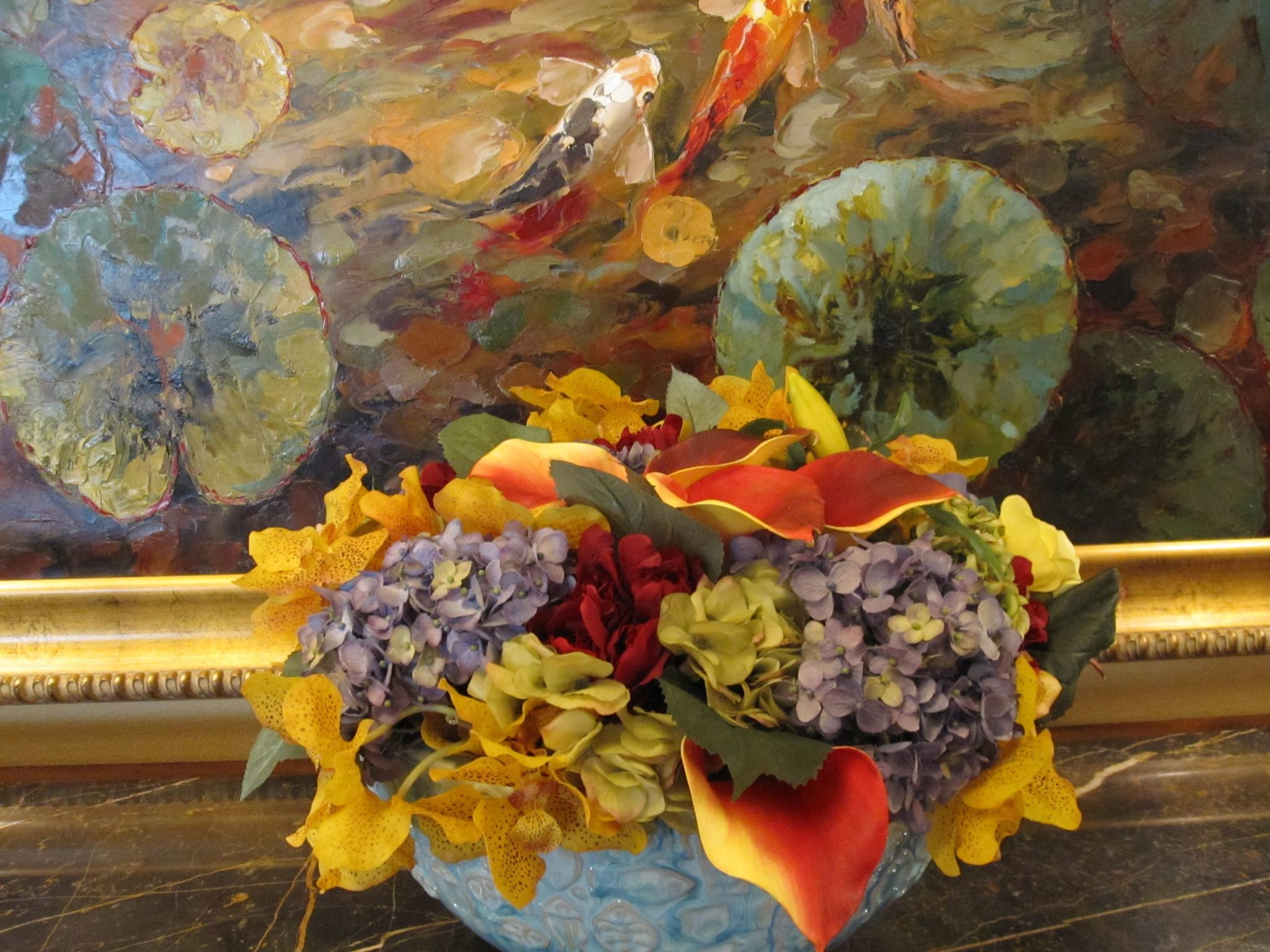 Silk-artificial floral design (2)