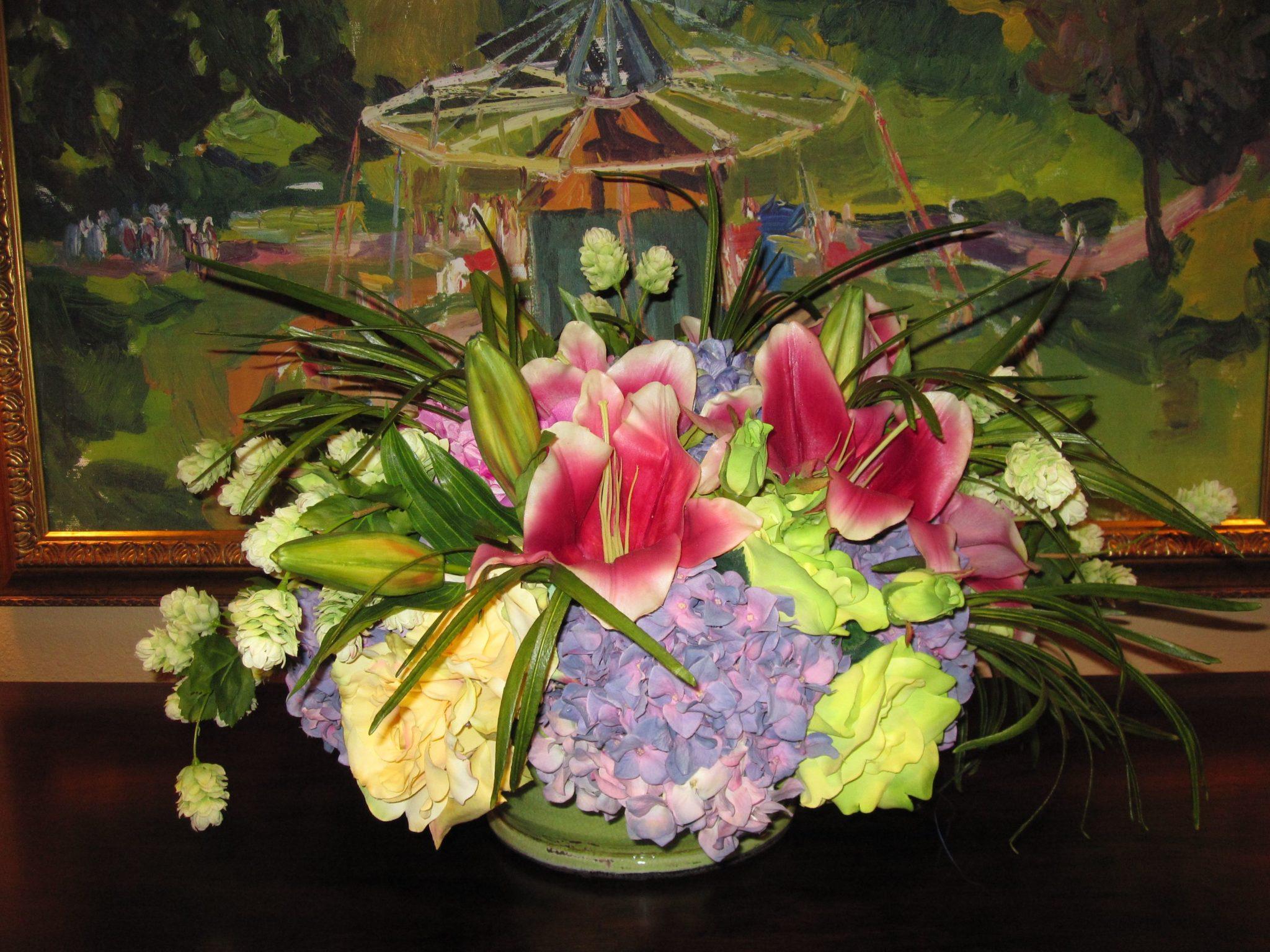Silk-artificial floral design (9)